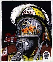 firefighting, firehouse, fire-ems, firefighters, firemen, fire, truck, engine, fireman, rescue, EMS, emergency, EMT, chief, search and rescue, artists, personalized, fine, art, artwork, prints, posters, calendars, t-shirts, t shirts, Christmas, anniversary, Joel Kimball